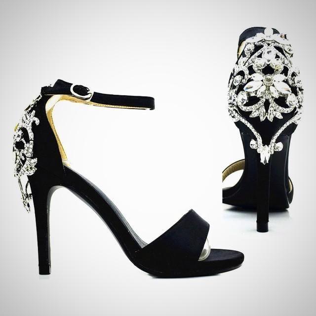 Satin Luxury Diamond Stiletto Heels