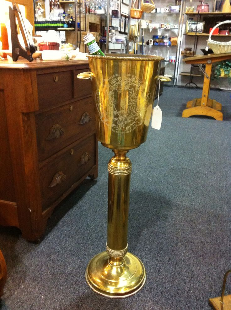 Vintage Bronze Champagne Bucket And Stand Champagne Ice