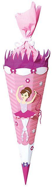 Für jeden Schulanfänger eine echte Freude: Schultütenbastelset Ballerina #schulanfang #kinder #mädchen #schultüte #weltbild