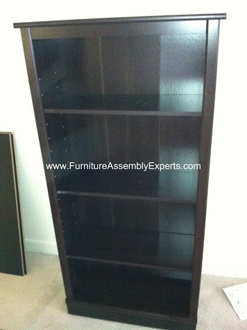 Sears Bookcase By Sauder Assembled In Alexandria VA By Furniture Assembly  Experts Company