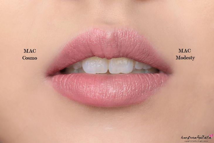 MAC MLBB Lipstick Dupes: MAC Cosmo vs MAC Modesty