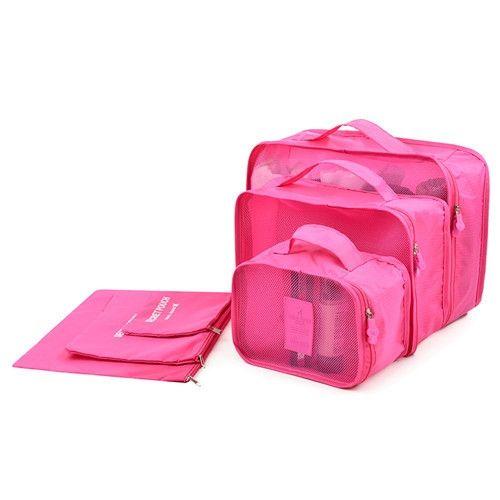 6 Unids/set en bolsa organizador de los bolsos de ropa de traje de bolsa de equipaje de viaje de negocios a prueba de agua zapatos de vestir ropa interior