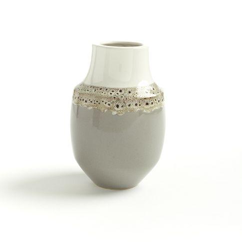 Dune vase - earthenware with reactive glaze.  West Elm.