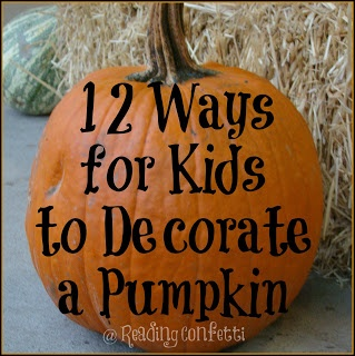 12 ideas for Halloween pumpkins - includes no carve ideas