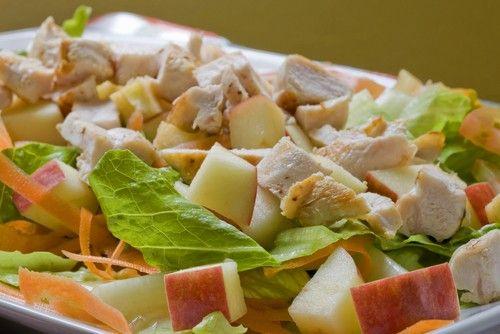 Салаты с курицей и яблоками - Рецепты салатов с курицей и яблоками -