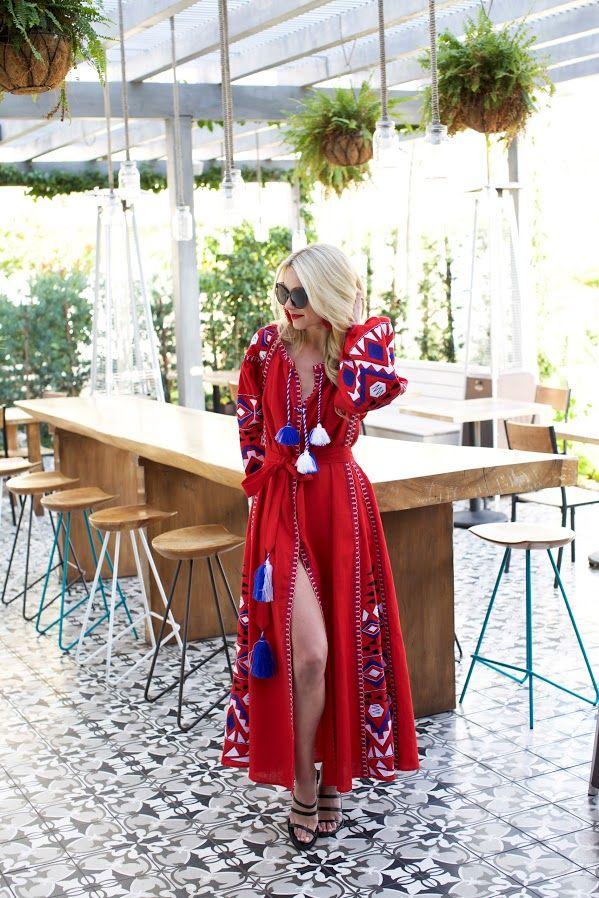 Click through for full outfit details!  // Atlantic-Pacific, Blair Eadie Red dress in Santa Barbara