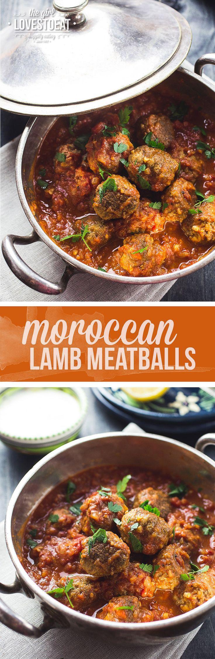 Moroccan Lamb Meatballs { http://thegirllovestoeat.com }