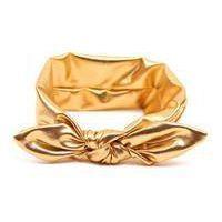 Croshka Designs Top Knot Metallic Headband for Baby Girls - Gold www.babyheadbands.co.za