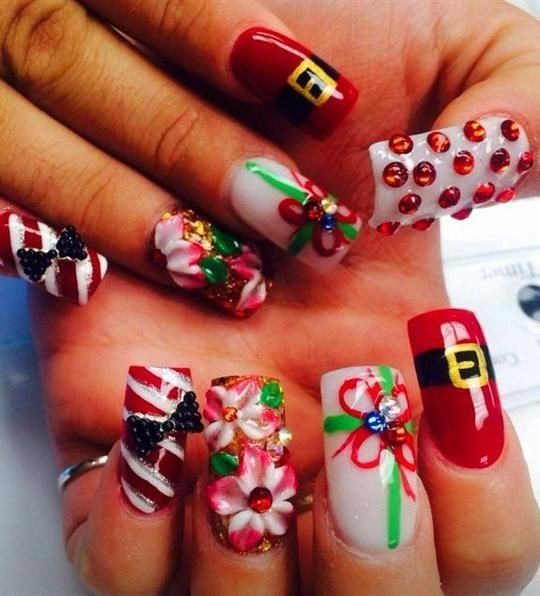 37 Beautiful Christmas Nail Art Design Idea For Christmas Nail