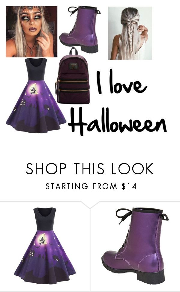 """""""Halloween"""" by officialmarziafashion ❤ liked on Polyvore featuring Marc Jacobs"""
