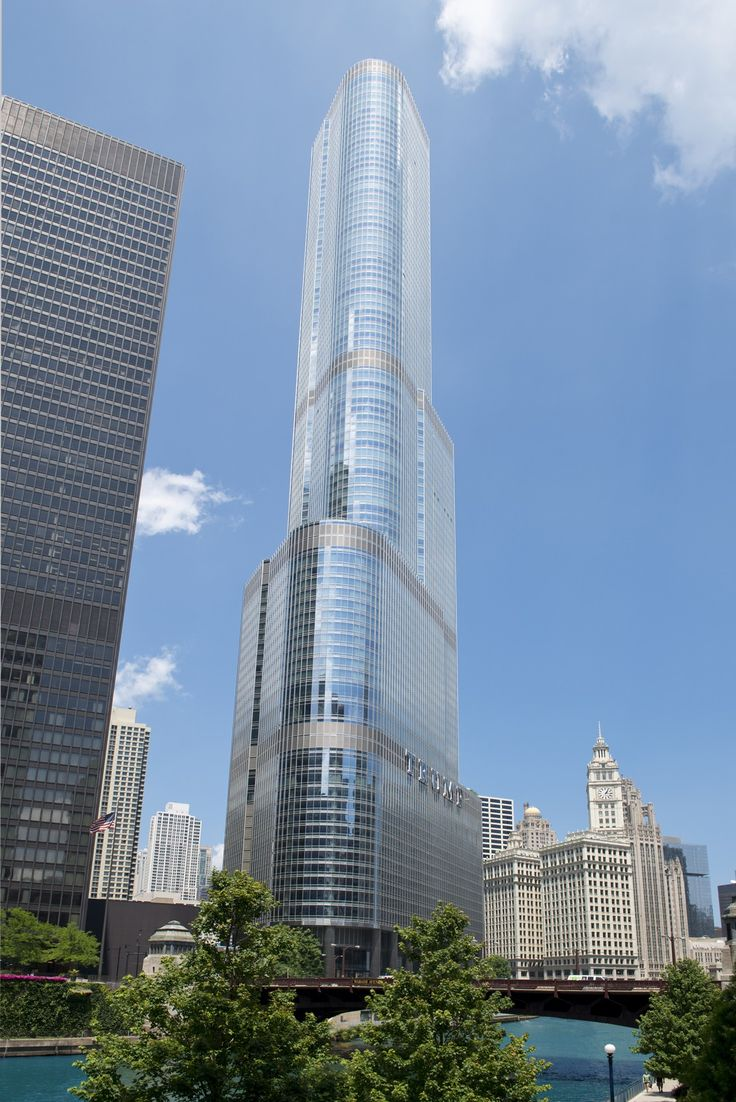 Trump Tower(2009 by SOM) When our docents explain that the Trump International Hotel & Tower reflects its surroundings, they aren't only referring to its shiny glass and steel exterior.