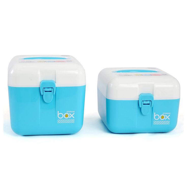Locking Storage Box Medicine Cabinet Sturdy Latch Organizer Bin Box Medicine Cabinet With Separate Compartments HG0305 #Affiliate