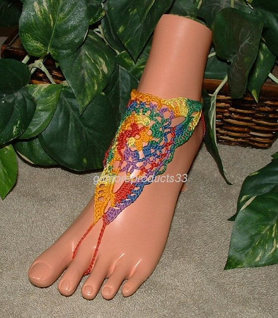 Mexicana Barefoot Sandals Rainbow Shoes Foot Jewelry Beach ...