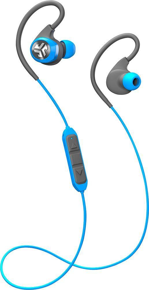 JLab - Sport Epic2 Wireless Earbud Headphones Sport - Gray/blue
