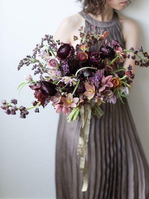 Nuancen von lila launischen Hochzeitsstrauß
