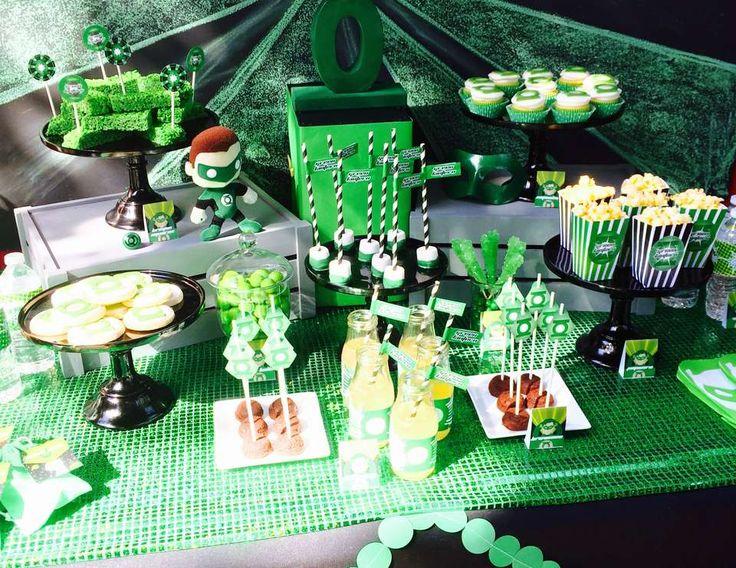 "Green Lantern / Birthday ""Modern Green Lantern Party"" | Catch My Party"