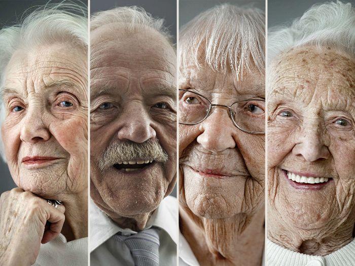 Aos 100 anos, idosos mostram beleza da terceira idade em ensaio