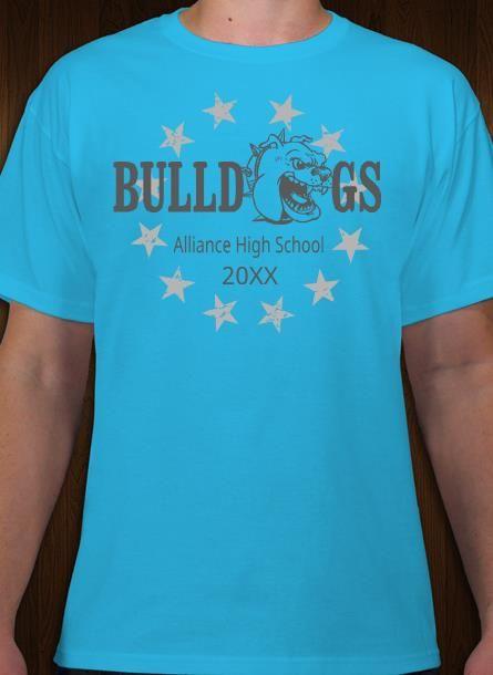 f14b172ef Bulldogs mascot tee shirt design. Make custom athletic tees online ...