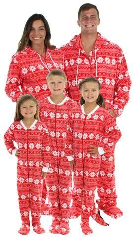 3e0275c0e SleepytimePjs Family Matching Fleece Red Snowflake Onesie Footed ...