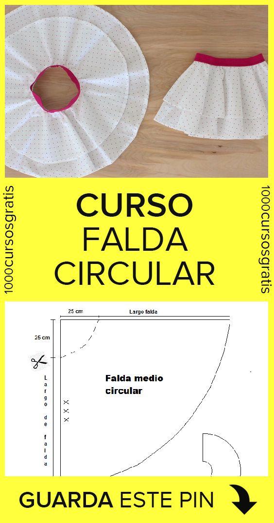 Como hacer una falda circular (Curso en video + patrones)
