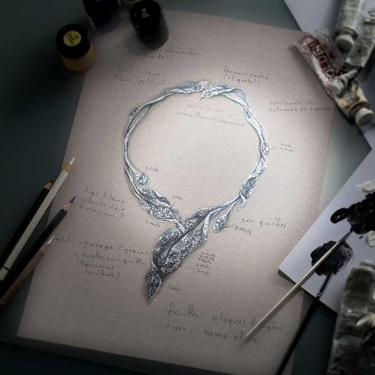 A sketch of Cindy Chao's incredible and inspirational jewellery design. Discover where the drawing comes to life and meet the jewellery designers you need to know about at the Biennale: http://www.thejewelleryeditor.com/jewellery/new-faces-jewellery-biennale-des-antiquaires-paris/ #jewelry