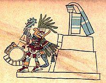 Huitzilopochtli, God of the Sun and a war Lord. Codex Borbonicus.