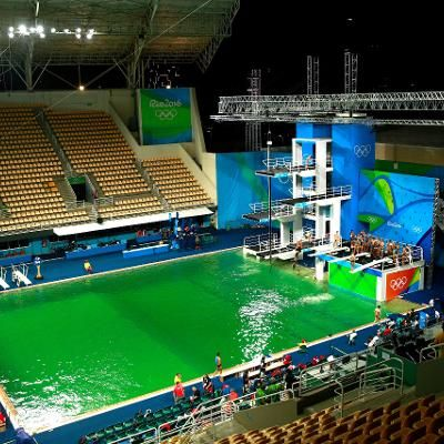 Sports: Heres Why the Water in the Rio Olympics Diving Pool Turned Green