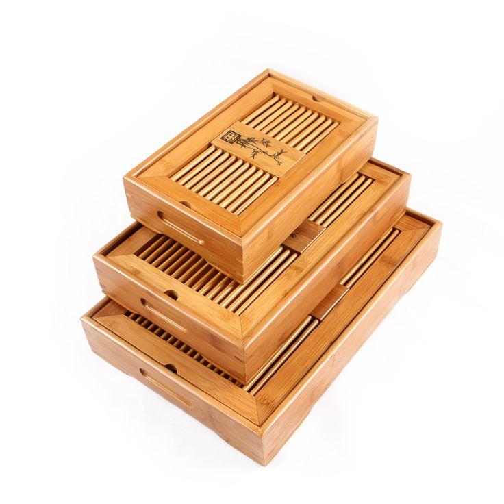 Paul Ceramic Kung Fu Tea Set Natural Wood Bamboo Tea Tray Rectangular Traditional Bamboo Puer Put Tea Black Tea-in Tea Trays #ayoub #teatray #chinesetea