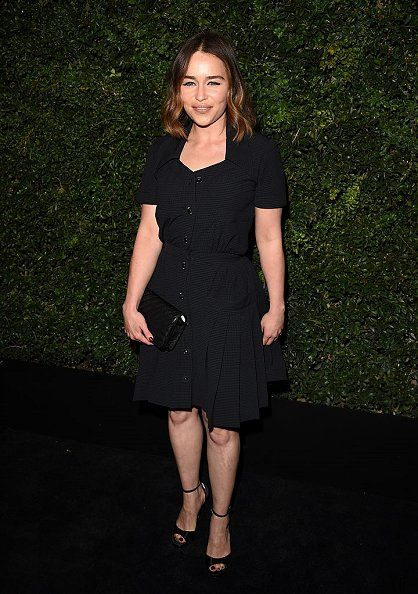 Emilia Clarke Wearing Chanel - Charles Finch and Chanel Pre-Oscar Dinner - http://becauseiamfabulous.com/2016/02/29/3192989/