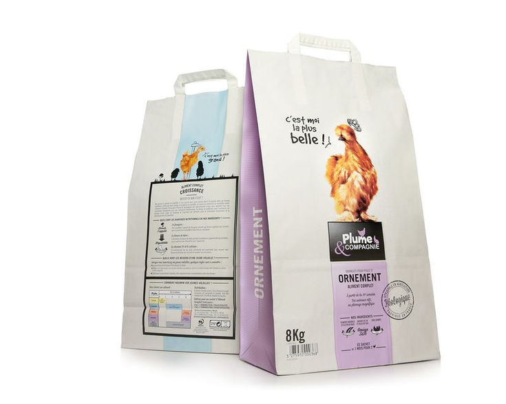 Plume and Compagnie's Chicken Feed Bag is Extremely Chic for a Farm Product #paper #packaging trendhunter.com