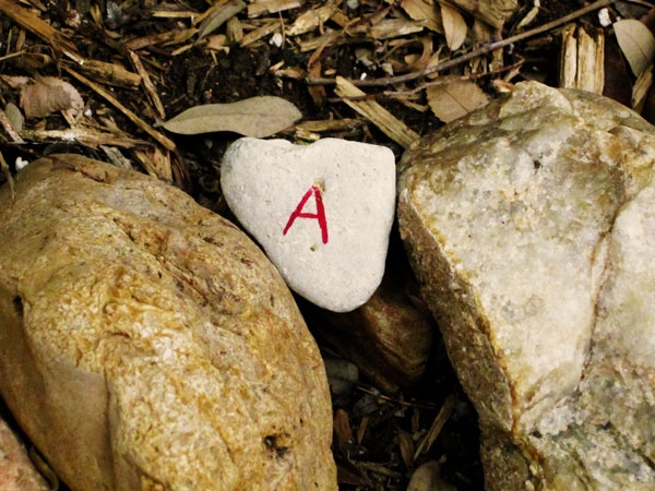 Alphabet scavenger hunt using rocks!