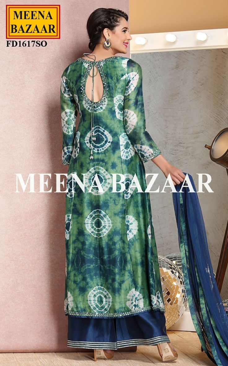 Green Chanderi Suit - Wedding Trousseau - Wedding