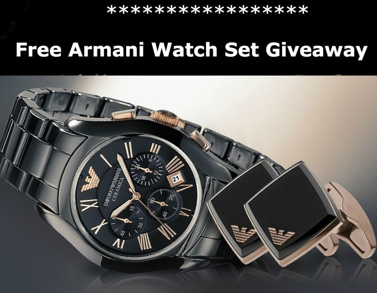 Win A FREE Armani Watch and Cuff Link Gift Set  http://vy.tc/eFaHn59  #Giveaway  #Win