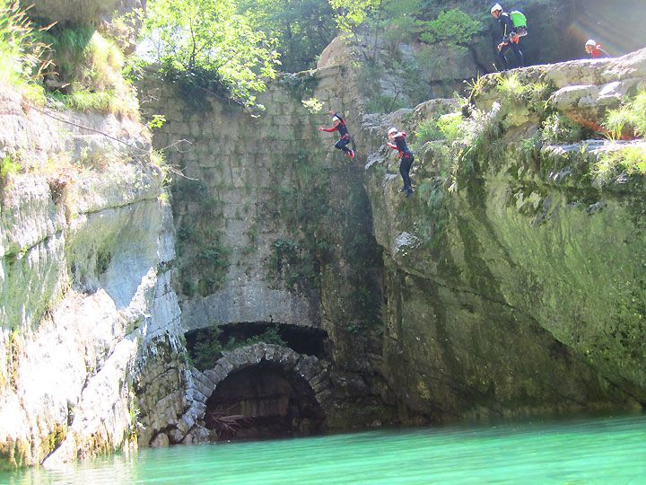 Klassenfahrt Canyoning Tuffone & Sport, Gardasee Italien