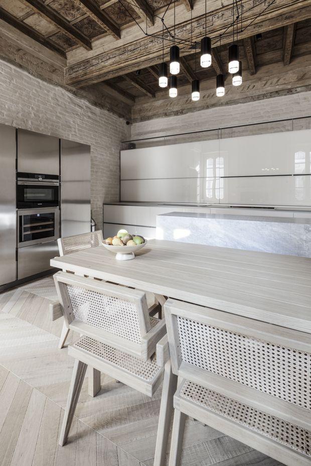 Großküchen, Betoninnenräume, Haus Design, Moderne Küche Design, Ziegel,  Wohnungen, Parma, Italien, Vorwärtsbewegung