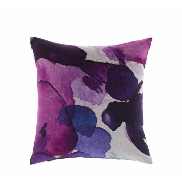 Bluebellgray Ashley Cushion ($99) ❤ liked on Polyvore featuring home, home decor, throw pillows, interior, pillows, dark purple throw pillows, plum throw pillows and square throw pillows