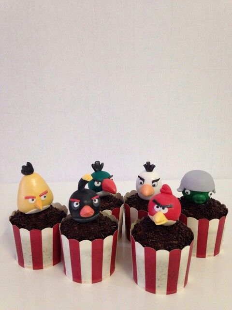 Cup cakes angry birt