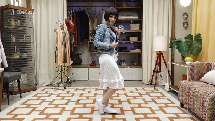 Ana Furtado visita brechó com a consultora de moda Karen Brustolin, que monta visuais bem modernos inspirados no guarda-roupa da vovó