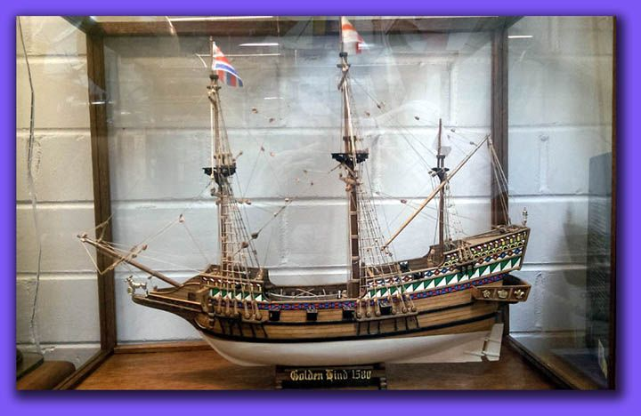 A BEAUTIFUL HAND MADE MODEL OF GOLDEN HIND 1580  $1,500