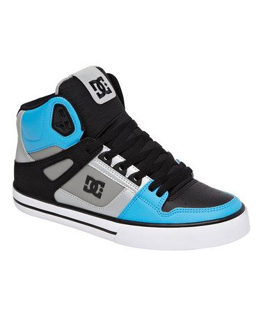 DC Shoes , skate shoes, This Gray  Blue Spartan Leather Hi-Top Sneaker - Men is perfect! #zulilyfinds