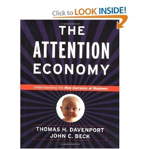'The Attention Economy' by Davenport and Beck - Bought this overpriced book via iBooks at $28 CAN. While it's an interesting read for someone who has little familiarity with social media, their weak referencing and frequently unsupported claims make for a frustrating read. Already, many of the websites referenced as leaders are no longer leading, or defunct. They do not acknowledge any other work in the field. #DoNotRecommend