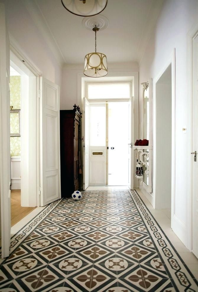 Entry Hallway Floor Hallway Tile Ideas Entry Traditional With Floor Tile Tiled Flooring Patterned Floor Tile S Tiled Hallway Entryway Flooring Hallway Flooring