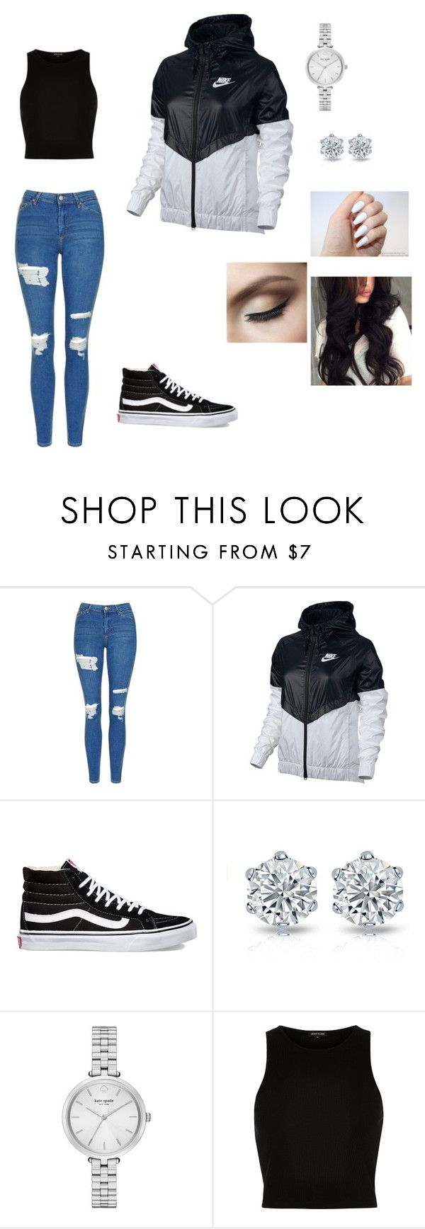 """Casual"" by ermiraadili on Polyvore featuring Topshop, NIKE, Vans, Kate Spade and River Island"