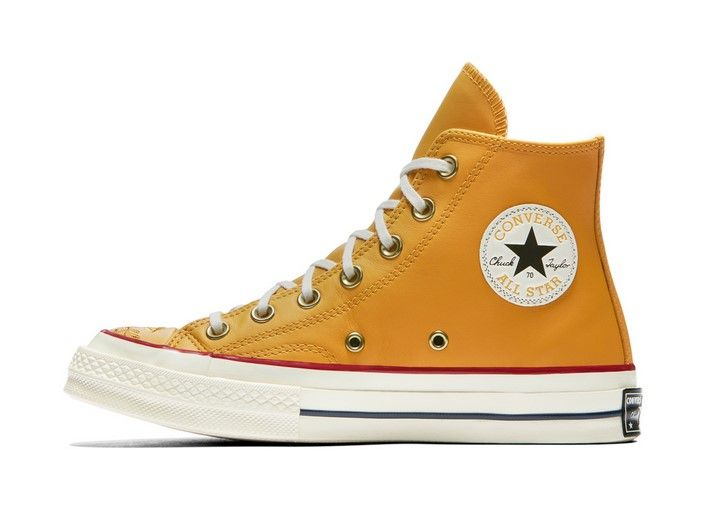 92a455014865 Converse Chuck 70 Floral Leather High Top turmeric gold teak egret ...