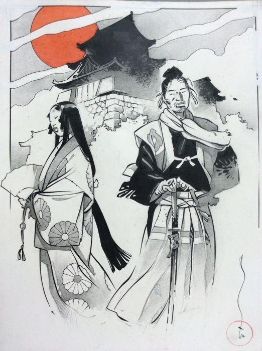 Michetz - Original colour drawing - Kogaratsu - (2017) - W.B.