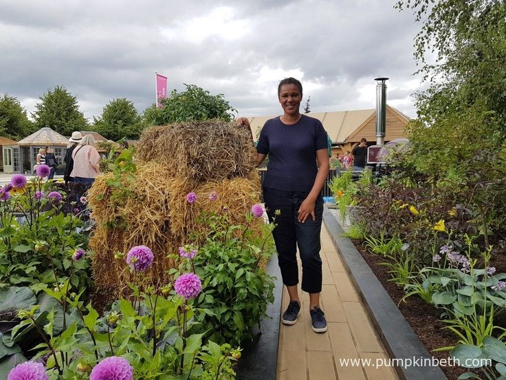 Juliet Sargeant pictured in the RHS Kitchen Garden, at the RHS Hampton Court Palace Flower Show 2017.