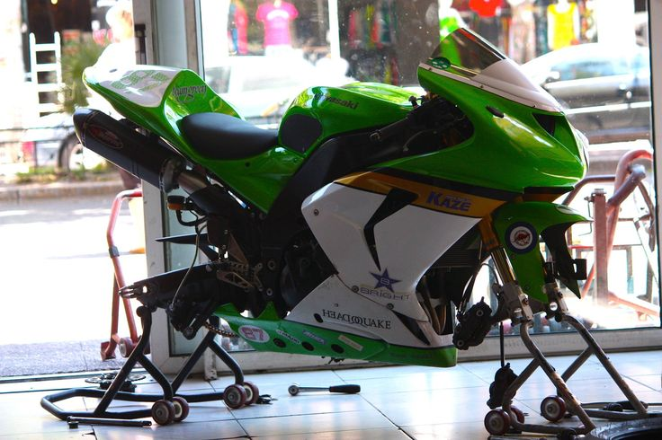 #custom #kawasaki #track bike #race