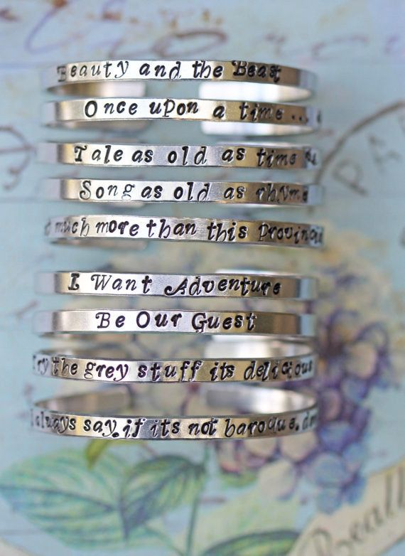 Wear your favorite song lyric on your wrist. | 17 Disney Accessories You'll Want Immediately