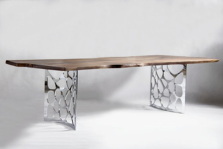 CX8 - Solid Walnut Table with chrome legs
