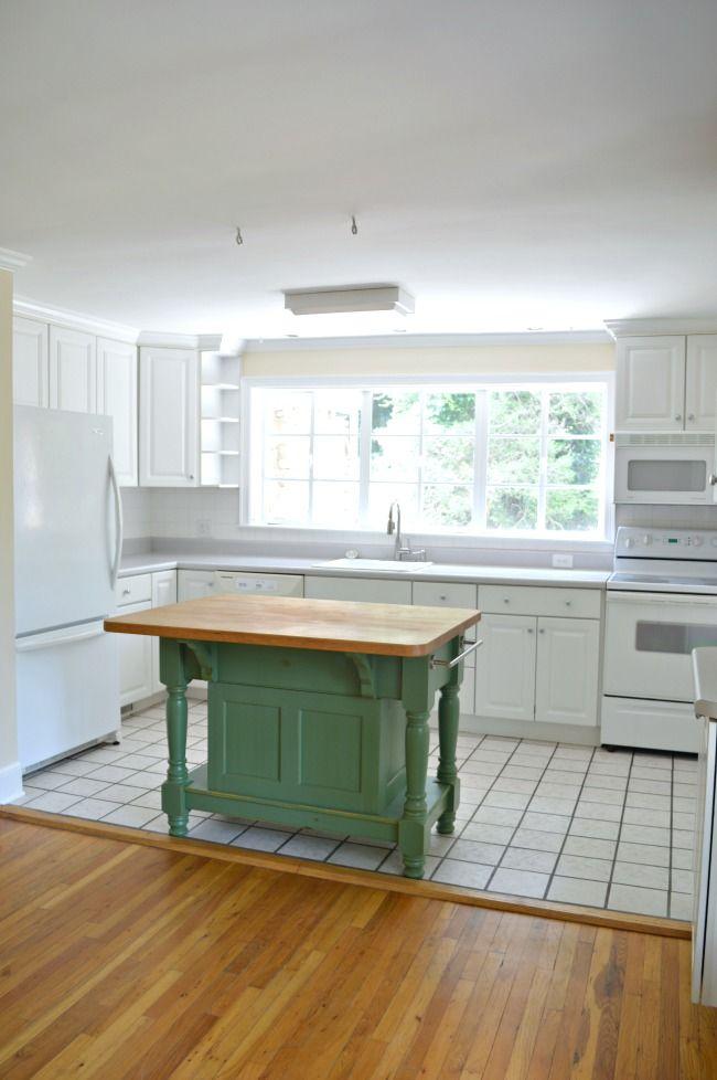 Painted black window trim in the kitchen. DIY | farmhouse www.chatfieldcourt.com